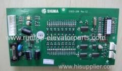 Sigma elevator parts indicator PCB EISEG-208