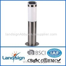 hot sale landsign stainless steel+PP+GPPS 1 LED white/color change high quality solar lamp