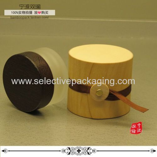 natural wooden box jar container
