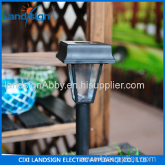 solar light factory landsign PP+GPPS antique standing lamp