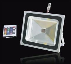 50W RGB LED Floodlight IP65 With Remote Controller