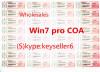 OEM FPP COA Sticker Win7 pro coa label win 7coa sticker key card w7 oem key