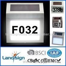 China OEM factory highest selling quantity solar light home solar system LED solar doorplate lamp
