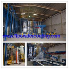 Vertical Powder Coating Plant for aluminum profiles