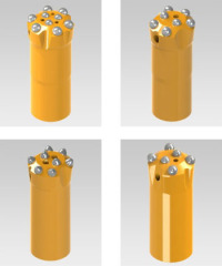 Small Hole Rock Drilling Tools Button Bits
