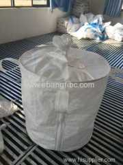 Color white big bag with spout for packing chemicals