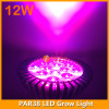12W LED grow lighting PAR light in E27 lamp socket