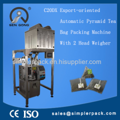 Automatic Triangle Tea Packaging Machine with Tag/Label & Thread Solid Triangular Bag Packing Machine from Factory