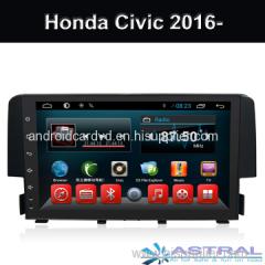 Honda Civic 2017 2016 Android In Car Dash Radio Navigation System Factory China