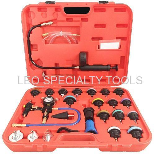 Cooling System Leakage Tester and Vacuum Type Coolant Refill Kit 27pcs