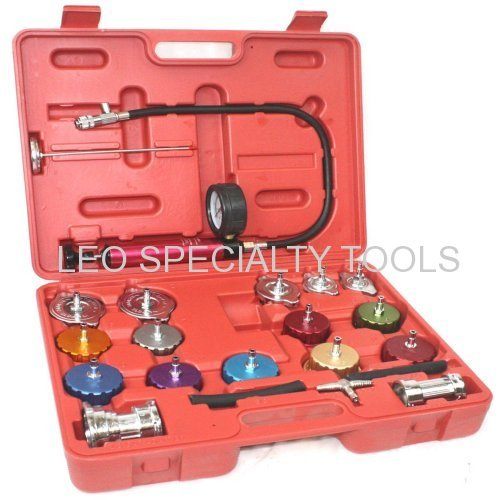 21pc Radiator Pump Pressure Leak Tester Checker Kit