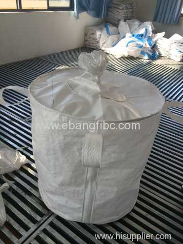 big bag for packing product with top and bottom cotton sliver