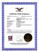 FDA Compliance Certificate
