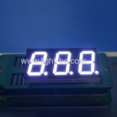 "Ultra bright white common anode 0.52"" triple digit 7 segment led display for instrument panel"