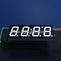 white 4 digit led clock display; white 7 segment led clock display; 4 digit white led clock display