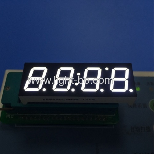 Ultra white 14.2mm Four Digit 7 Segment LED Display for Clock Indicator