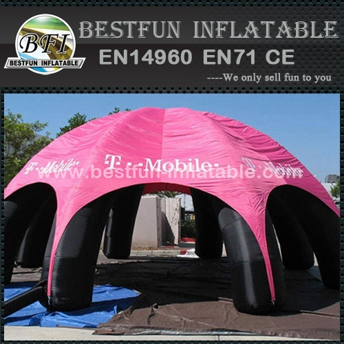 Inflatable tent for car shelter show