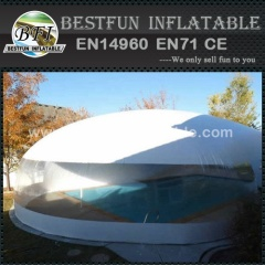 Large inflatable swimming pool tent