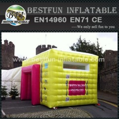 Inflatable tent with air condition