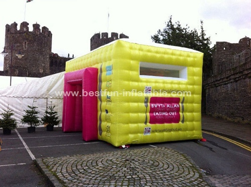 Colorful mini inflatable advertising tent
