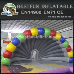 Rainbow shell shape inflatable party tent