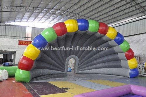 Colorful pvc inflatable stage tent for festival