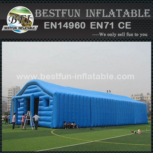 Inflatable warehouse tent for storage