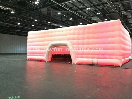 Decoration large waterproof light up inflatable tent used in wedding