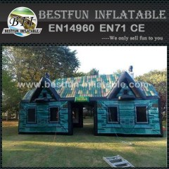 Blue pvc inflatable party tent