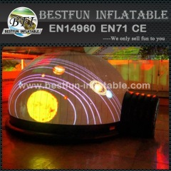 Inflatable projecting tent for exhibition