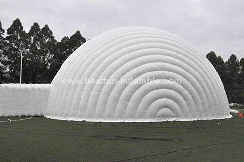 Giant white event dome inflatable tent