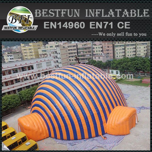 Inflatable sport tent for commercial