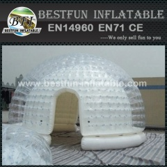 Airtight inflatable clear tent