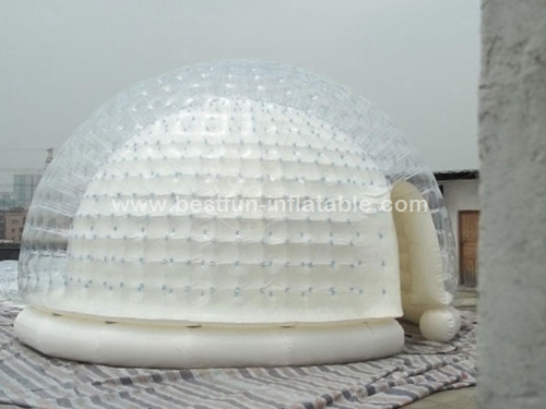 Inflatable Airtight Igloo Clear Tent for Advertising
