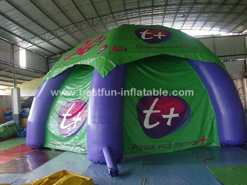 Inflatable spider tent for advertising