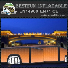 Customized inflatable construction tent