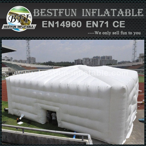 Inflatable cube tent for exhibition