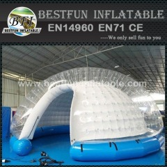 Inflatable yard tent white pvc tarpaulin
