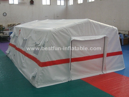 Traditional white hospital color inflatable tent