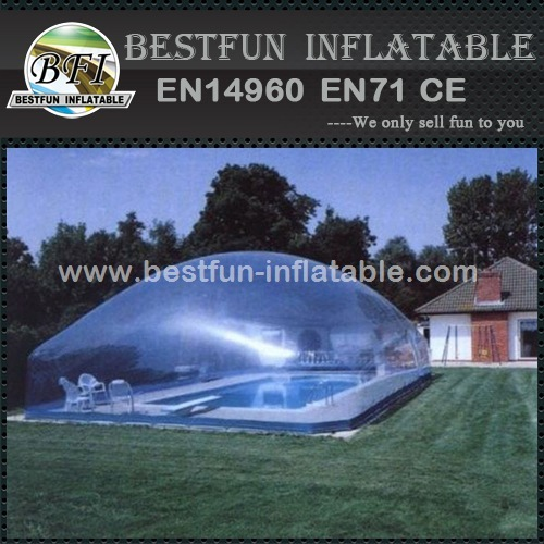Bubble plastic inflatable swimming pool cover tent