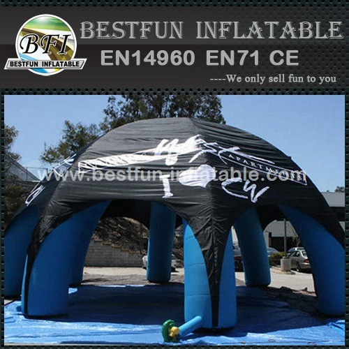 Inflatable spider tent with water proof cover