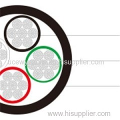 Type W Four-Conductor Round Portable Power Cable 2kV