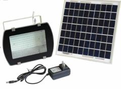 54LED Floodlight. with Solar Panel 16V 10W IP65 with Adaptor