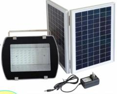 108LED Floodlight. with Solar Panel 16V 20W IP65 with Adaptor