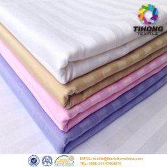 China satin stripe hotel bed sheet fabric