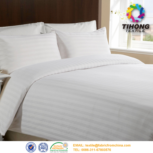 China Hotel Cotton Bed Linen Fabric