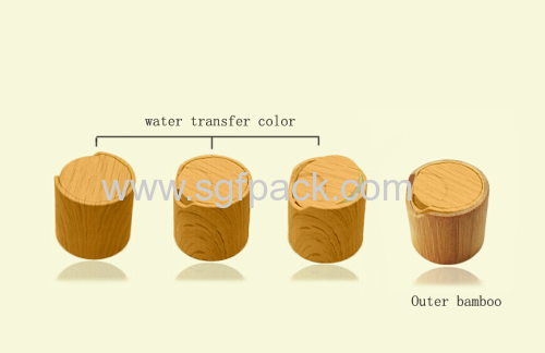 YELLOW WATER TRANSFER CAP WOODEN BAMBOO COLOR