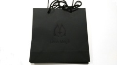 Black textured paper gift bag