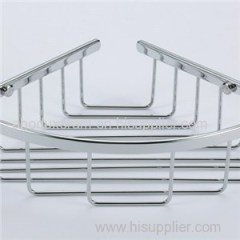 Bathroom Brass Corner Basket