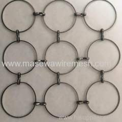 gunmetal black metal circle mesh